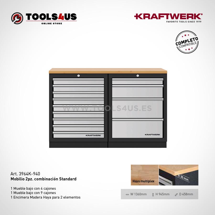 3964K 940 mueble taller garage negocio banco de trabajo kraftwerk herramientas espana barcelona 01 - Mueble Modular Taller 2 Elementos Bajos 3964K-940