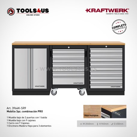 3964k sr9 mueble de taller banco trabajo garage negocio bicicleteria taller bici kraftwerk herramientas españa barcelona 02