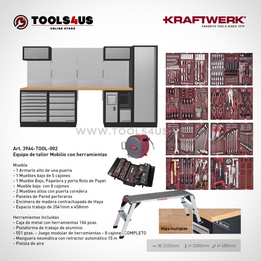 3964 TOOL 001 5 elementos mueble de taller banco trabajo garage negocio bicicleteria taller bici kraftwerk herramientas espana barcelona 02 - Mueble Modular Taller 5 Elementos Equipado 3964-TOOL-001