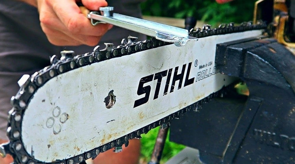 How many times can you sharpen a chainsaw chain