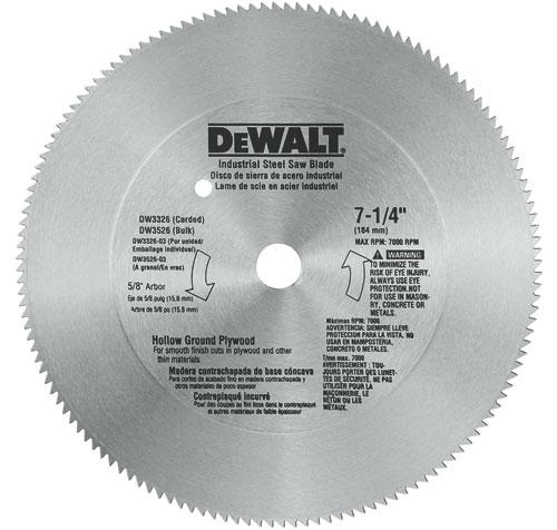 DeWalt DW3326 Plywood Circular Saw Blade 714 140T