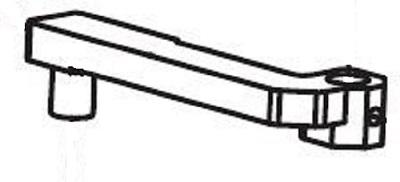 Shop Fox X1758169 Tool Rest Extension Arm V1
