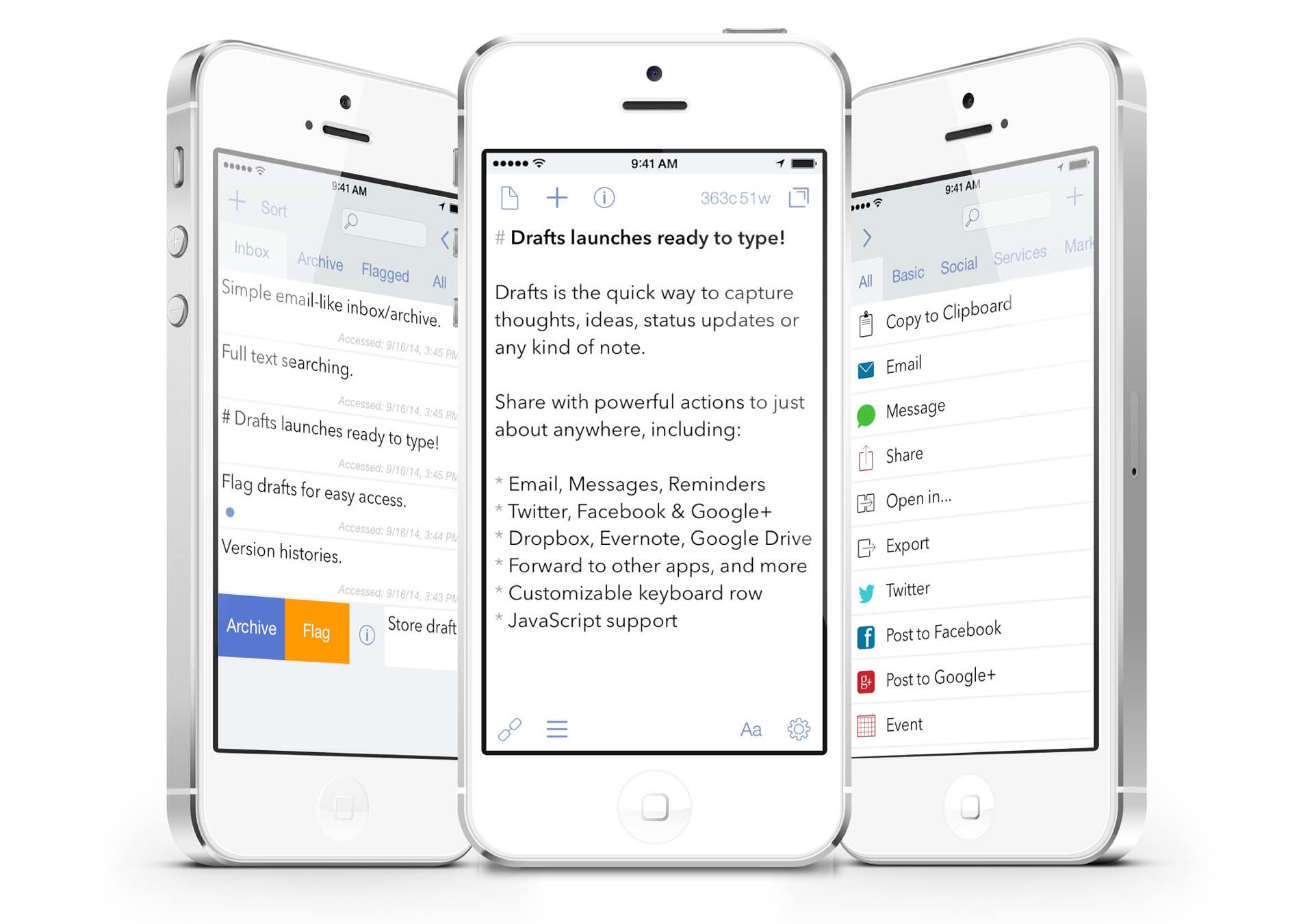 Drafts 4 for iOS — Tools and Toys
