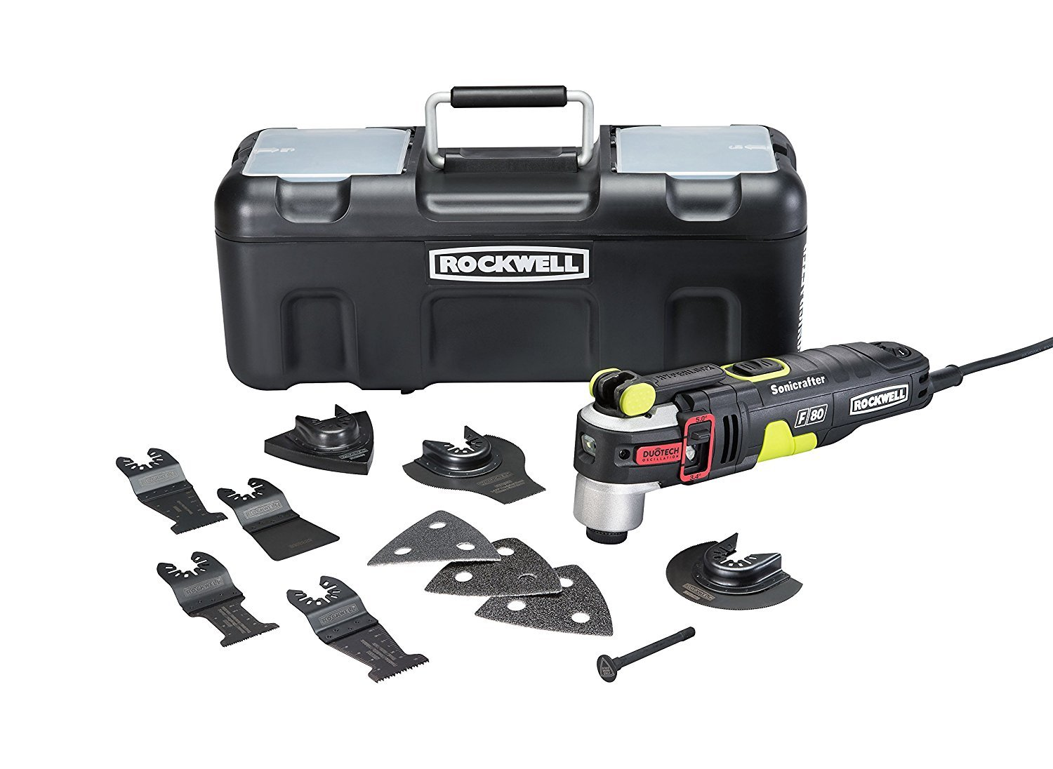 Rockwell RK5151K 4.2 Amp Sonicrafter F80 Oscillating Multi-Tool with Duotech Oscillation Angle Technology