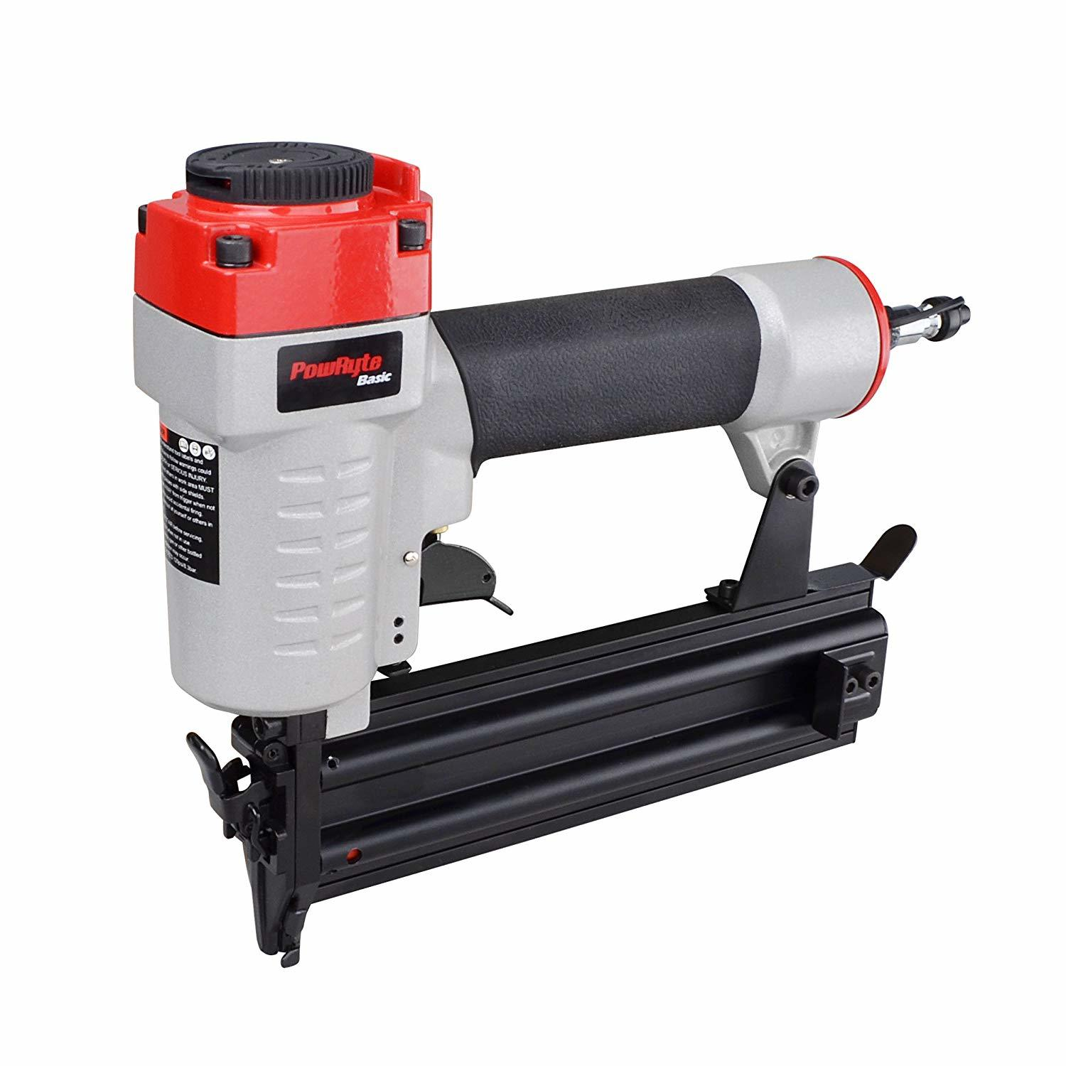 PowRyte 18 Gauge Air Brad Nailer with Tool-Free Jam Release Mechanism