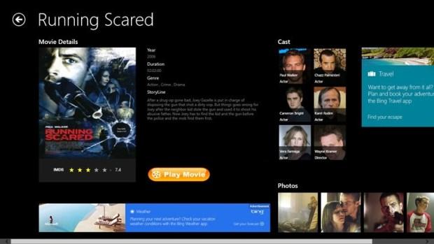 Movie planet app for Windows 10