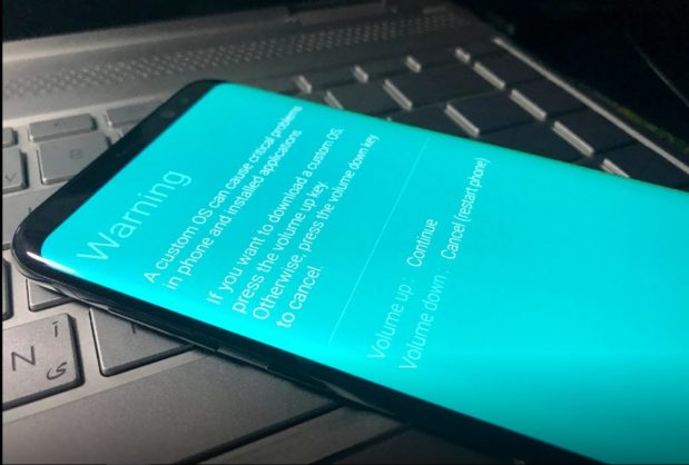 Samsung Galaxy Download Mode Warning