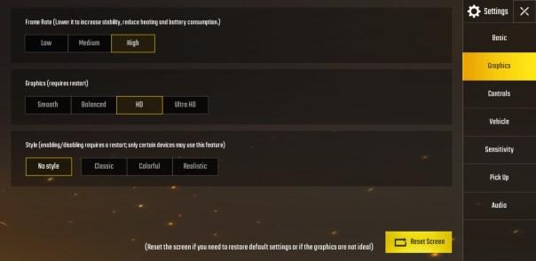 PUBG Mobile Lag Fix Screen