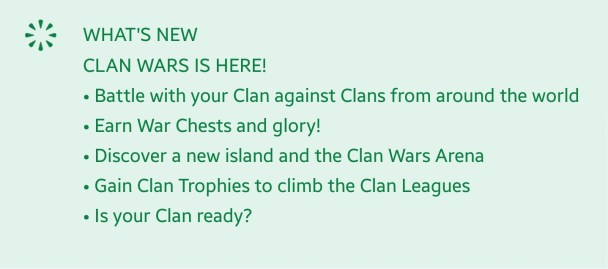 Clash Royale Clan War update