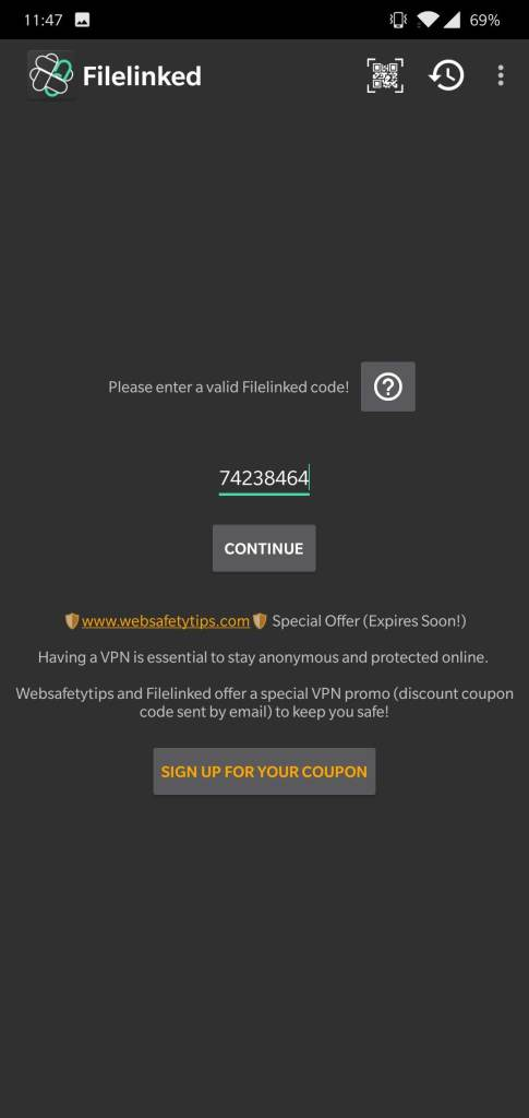 FileLinked Codes Apk 2018