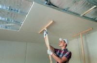 How To Hang Drywall on Ceilings  Tools First