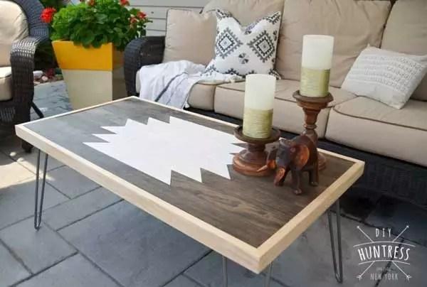 DIY Geometric Coffee Table