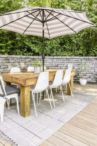 Modern Farmhouse Outdoor Dining Table