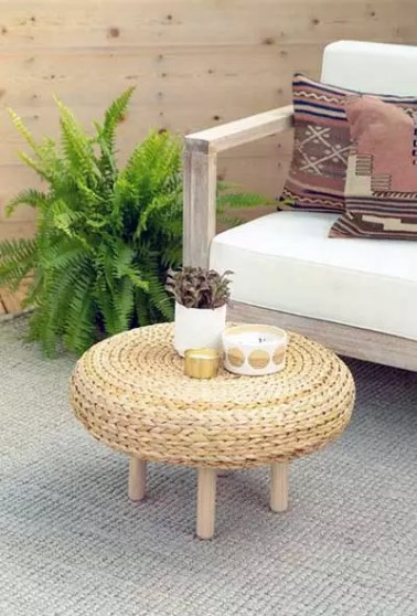Stool into a Coffee Table