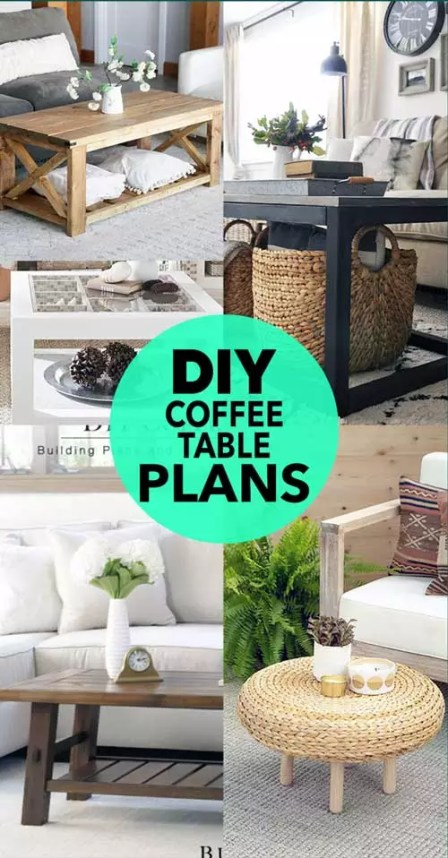 diy coffee table plan