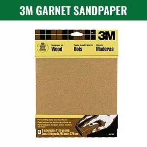 3M Garnet Wood Sandpaper