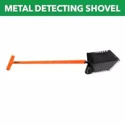 Metal detecting shovel