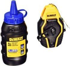DEWALT DWHT47257L Compact Chalk Reel Kit 4 Oz Container of Blue Chalk