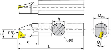 Internal boring bar: S10K-STUCR-11