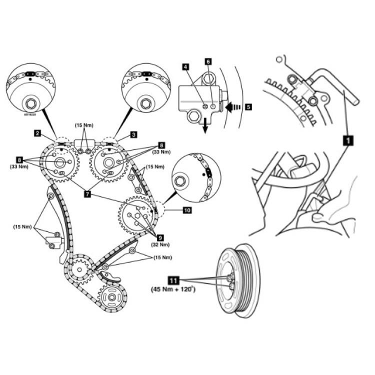 Timingset Ford 2.0, 2.2, 2.4 TDdi & TDCi