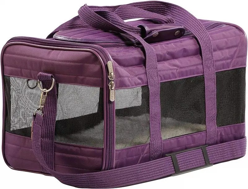 Soft-sided cat travel crate