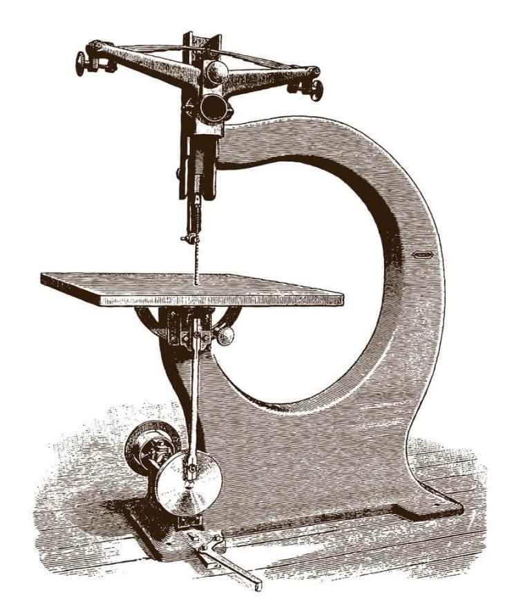 Vintage scroll saw machine