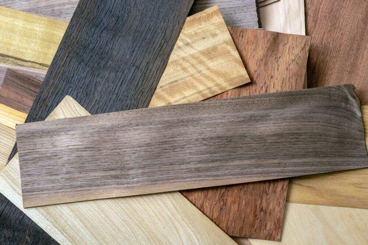 Small cut Wooden veneer