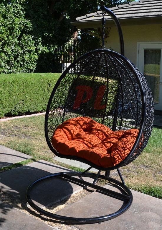 Egg Shape Wicker Rattan Swing Chair Hanging Hammock 2