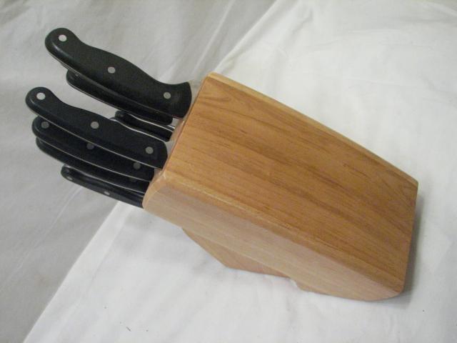 Set Knife Butcher Block