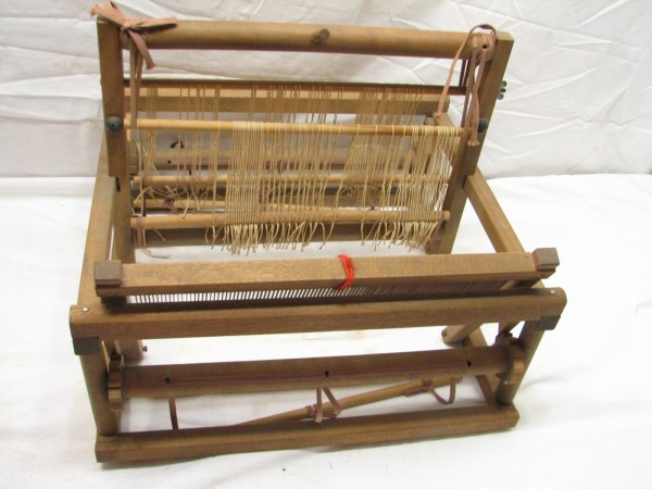 Vintage Wooden Table Top Hand Weaving Loom Small Work