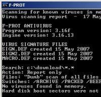 F-Prot for DOS
