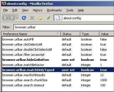 Firefox 3 urlbar
