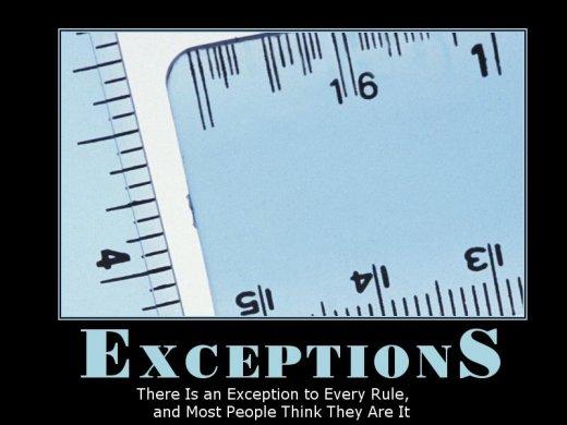 Demotivational: exceptions