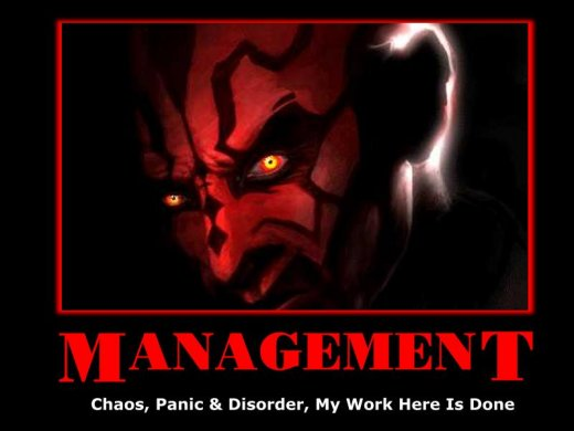 Demotivational: management
