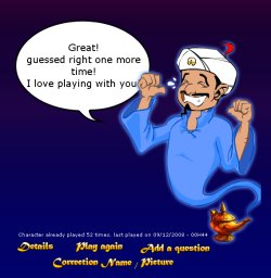 Akinator, the Web Genius