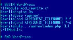 Wordpressi htaccess