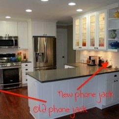 Kitchen Wall Phones The Best Way To Clean Cabinets Phone Jack Design Ideas Creative Hiding Too Much Do So Little Time