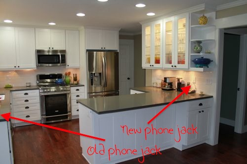 kitchen wall phones table for small phone jack design ideas creative hiding too much to do so little time
