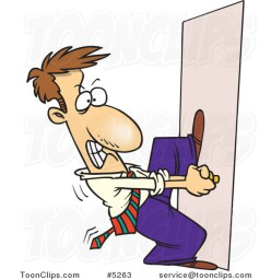 Image result for cartoon behind the closed door