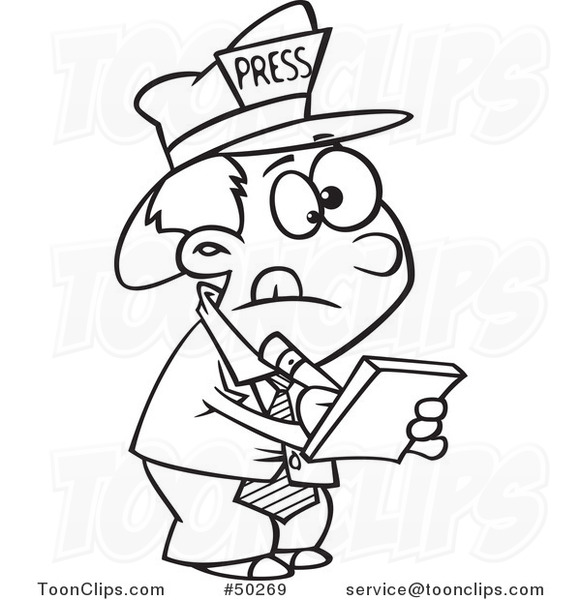 Image result for cartoon reporter images
