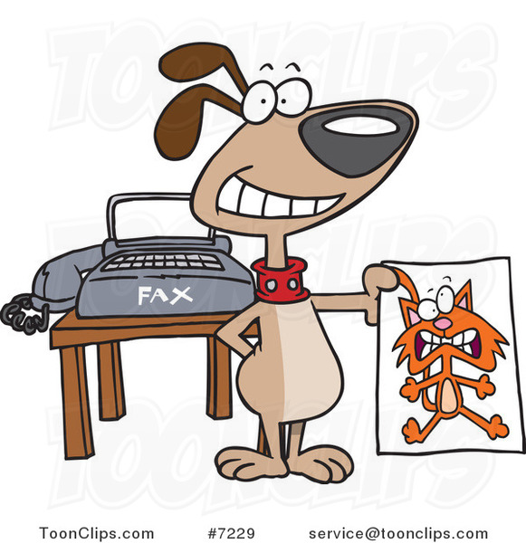 cartoon dog holding a