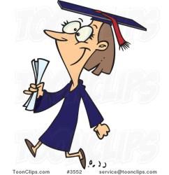 cartoon college graduate female walking cartoons leishman graduation ron university writing graduated essay service clipart grad person copyright toonclips protected