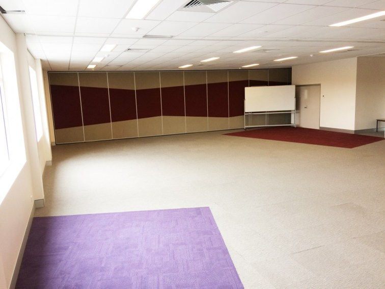 Meeting Rooms 1 & 2 are currently combined and form a large room capable of seating 100 people.