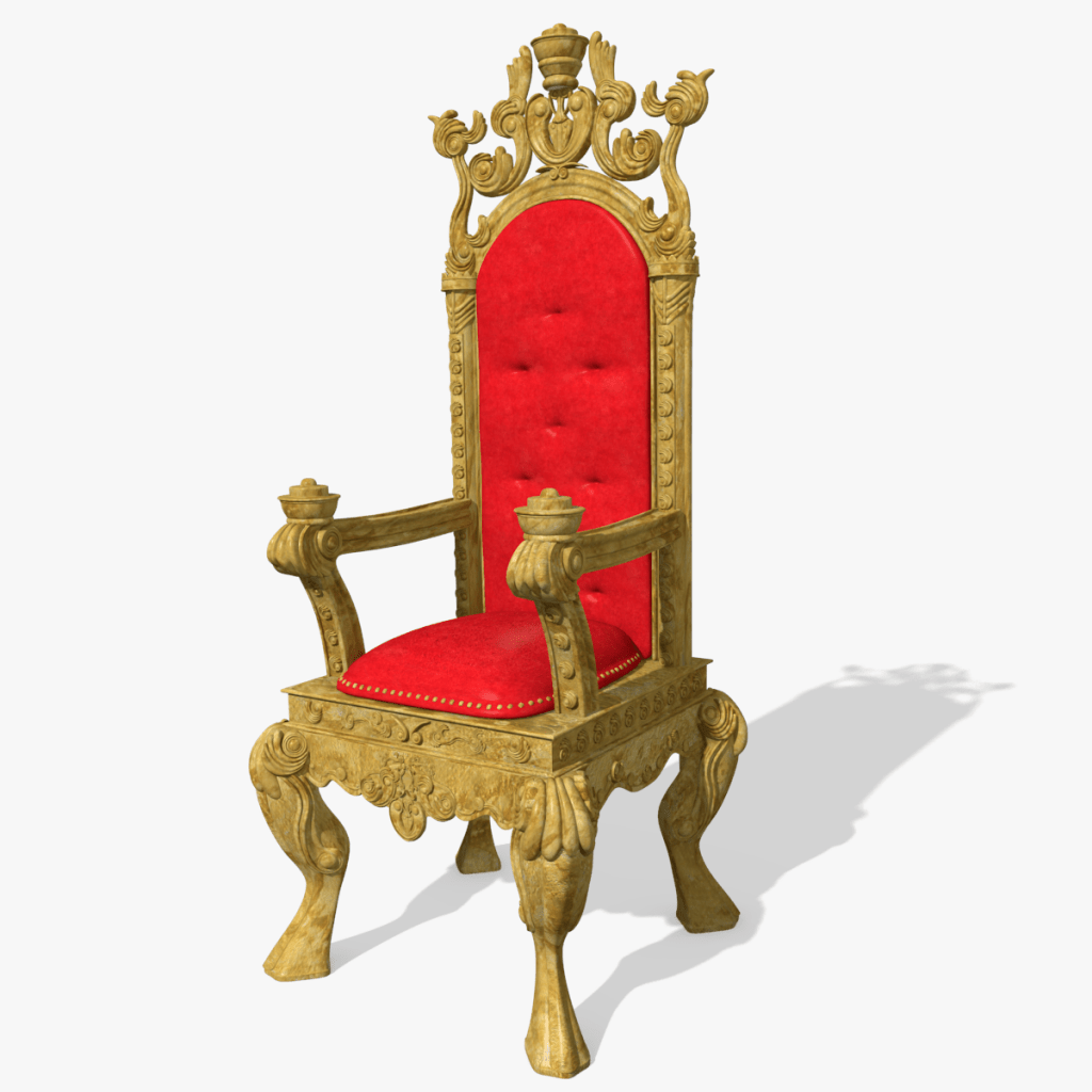 King Chairs 3d Kings Throne Chair Model Toon Life Studios