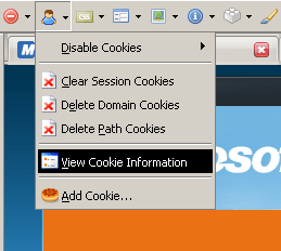 View Cookie Information