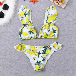 MUQGEW High Waist Bikini 2021 Push Up Swimsuit Swimwear Women Brazilian Bikini Set Biquini Sexy Bathing 1