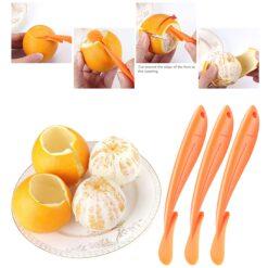 New Orange Peelers Zesters Stripper Orange Device Skinning Knife Juice Helper Citrus Opener Fruit Vegetable Tools