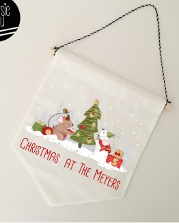personalized christmas mouse banner flag