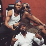 Spotted! Seyi Shay & Flavour Working At The Studio