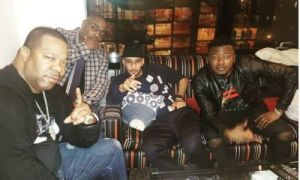 MC Galaxy chills with Busta Rhymes and Swizz Beatz